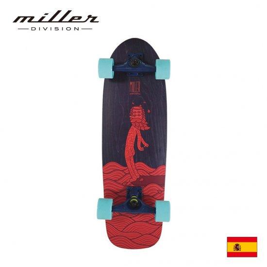 【Miller Division / ミラーディビジョン】 HANGTEN ハングテン サーフスケート コンプリートスケートボード デッキ幅9インチ