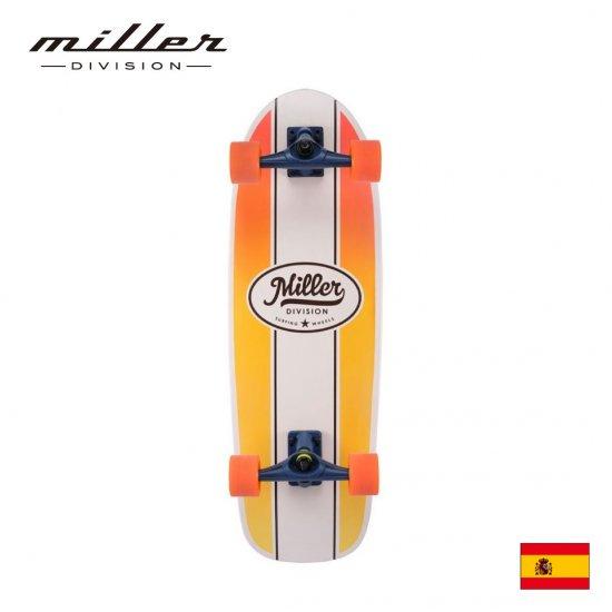 【Miller Division / ミラーディビジョン】 CLASSIC  クラッシック  サーフスケート コンプリートスケートボード デッキ幅10インチ