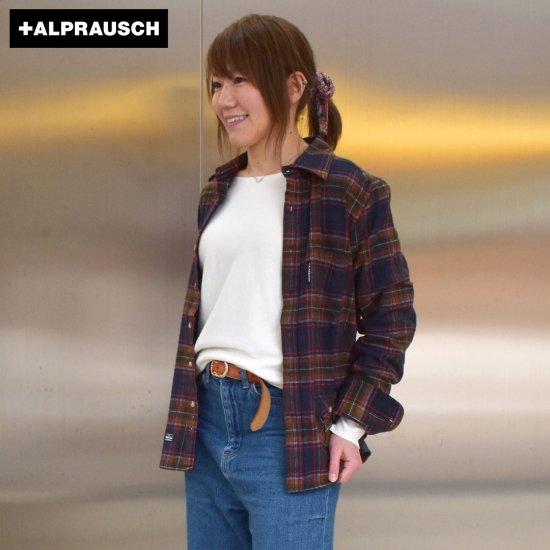 アルプラウシュ チェックシャツ ネルシャツ レディース Alprausch HOLZBIIGER SHIRT