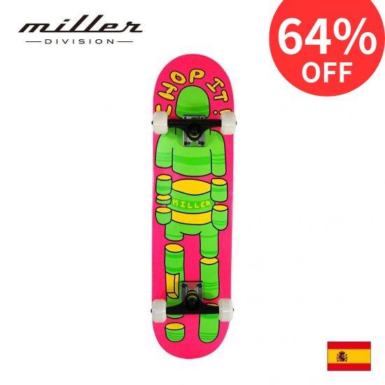ミラーディビジョン スケートボード サーフスケート コンプリートスケートボード デッキ 7.5インチ幅 Miller Division CHOP IT