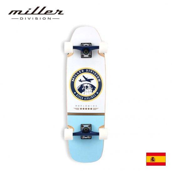 ミラーディヴィジョン サーフスケート コンプリートスケートボード デッキ Miller Division JFK 31