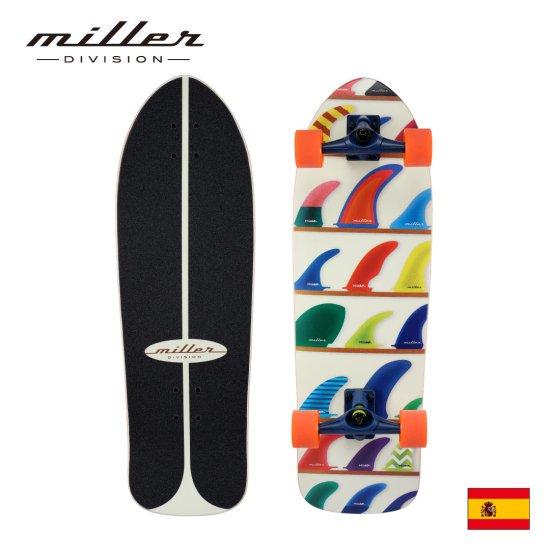 ミラーディヴィジョン ウィール アンド フィンズ サーフスケート コンプリートスケートボード Miller Division WHEELS AND FINS