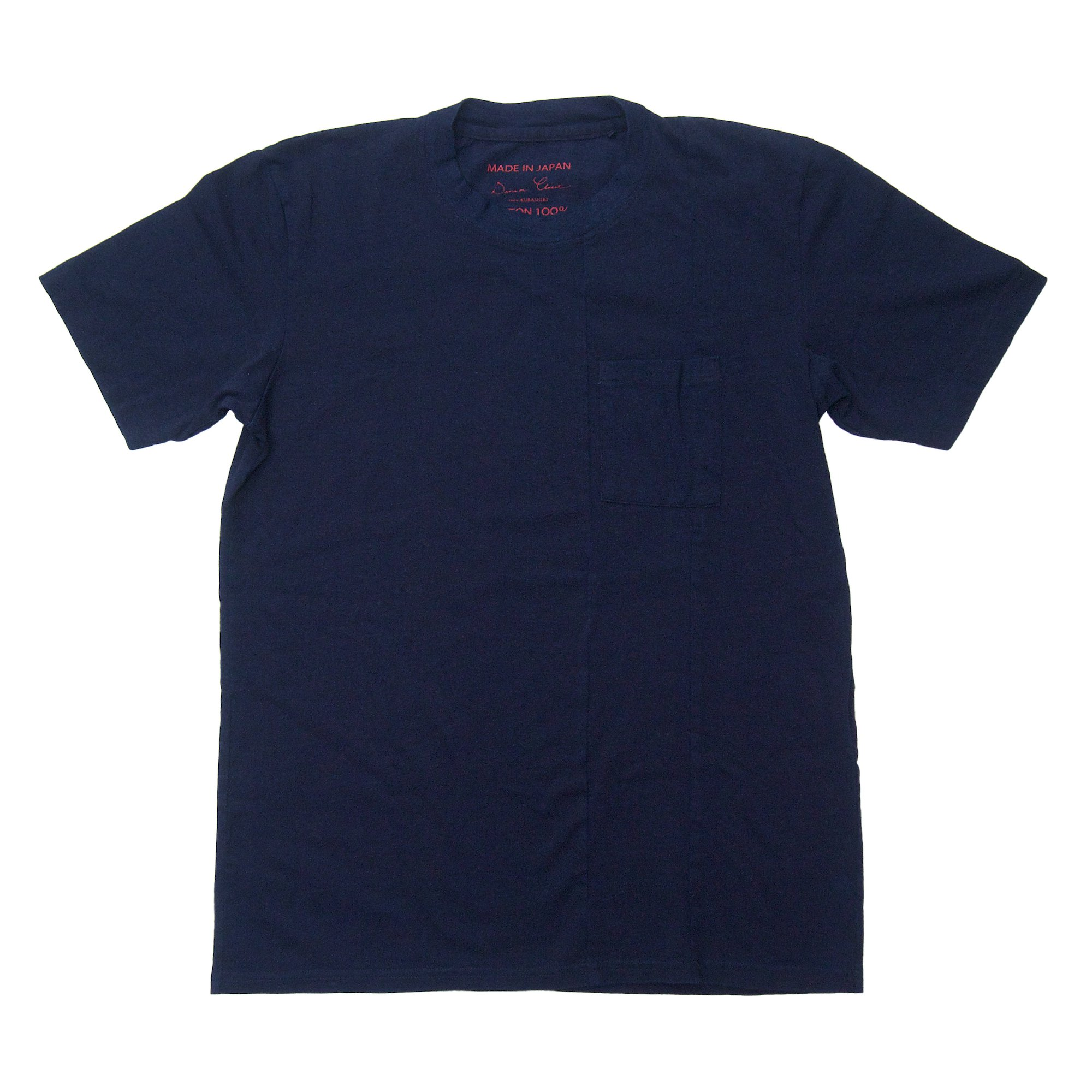 ぽけっとTシャツ(先染めインディゴ)