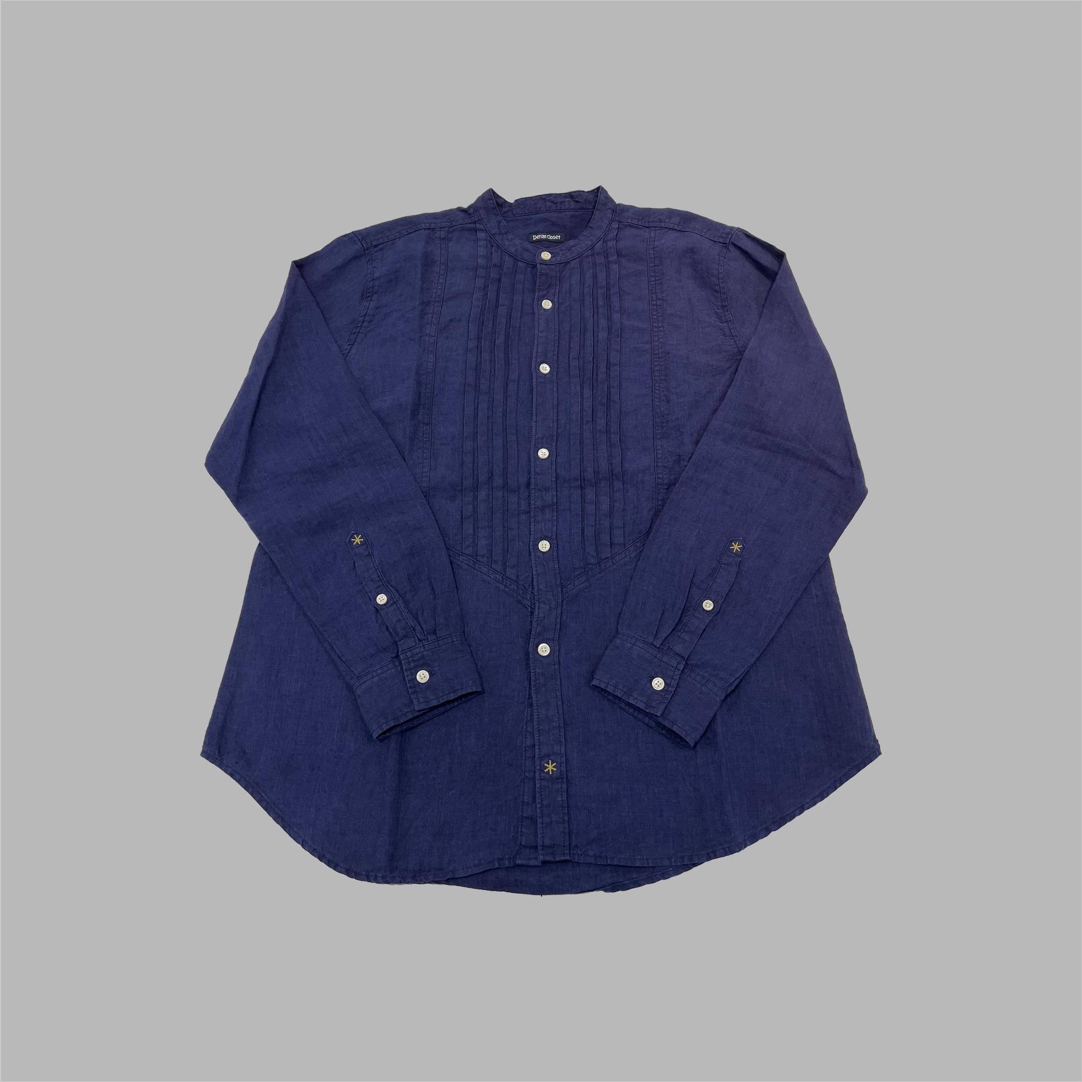 ピンタックシャツ(INDIGO LINEN)