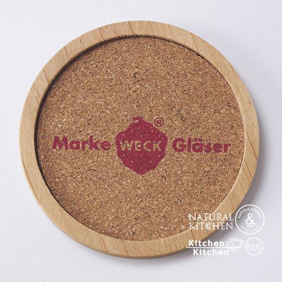 木製コースタ−WECKロゴ