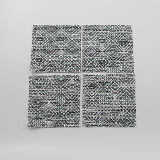 メッシュコースター グレーMIX4枚セット