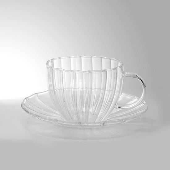 ガラスカップ&ソーサー
