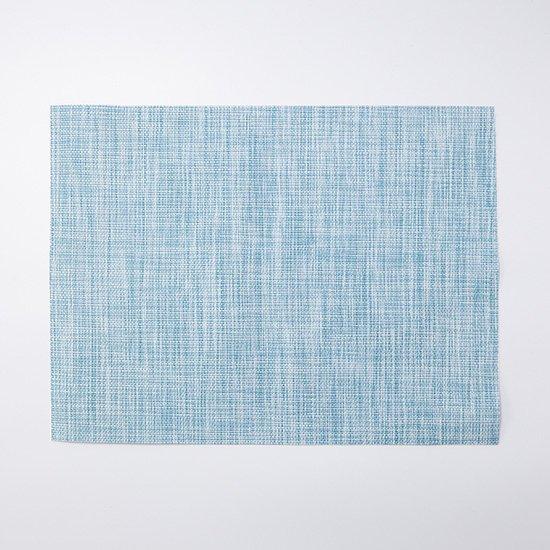 メッシュランチマット織り模様ブルー