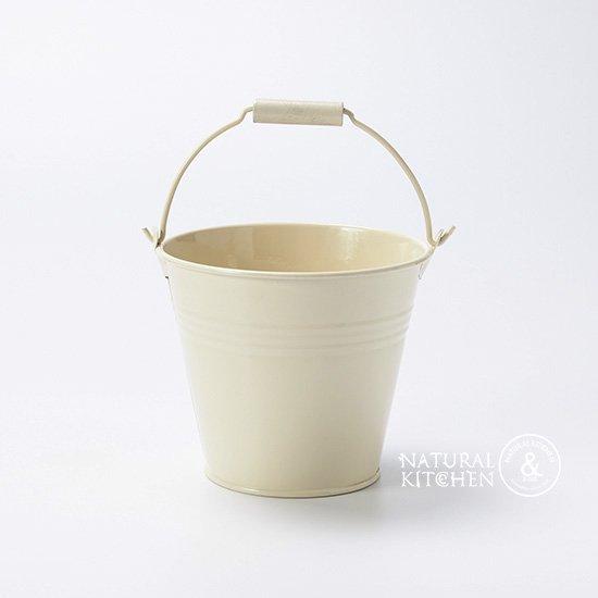白塗ブリキミニバケツφ11cm