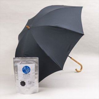 【送料込】洗える傘(ブラック) ※着せ替え生地セット