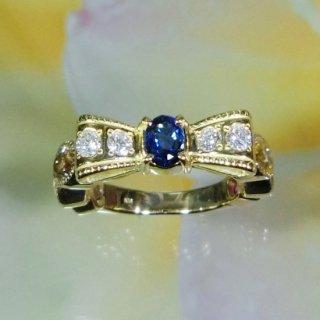 リボンの指輪<br>アームはサクラマニです。