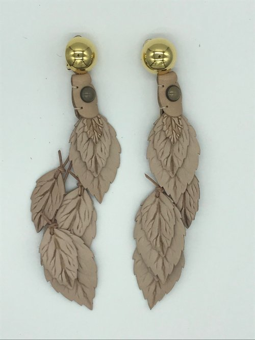 leather reef earring NUME