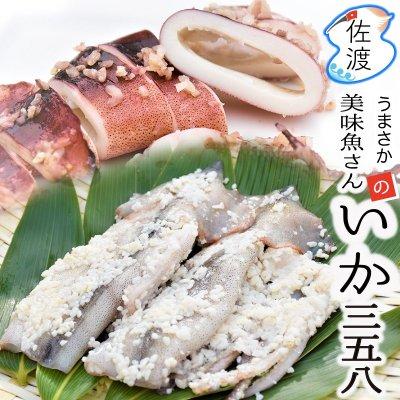 佐渡産いか三五八漬け 2ハイ入(245g〜285g)【美味魚】【クール冷凍便】
