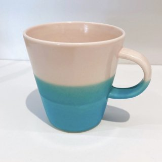 Mug cup S(2色掛け分け)【Pink/blue】前野達郎