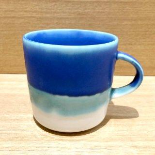 Mug cup M(2色掛け分け)【Transparent/blue】前野達郎