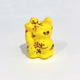 張子 招き猫(小)【秋柄 黄色】