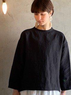 yayami Linen Pullover (Black)
