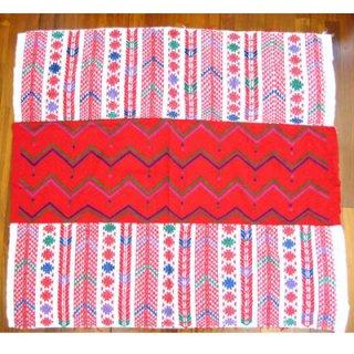 手織り幾何学模様クロス【民族衣装、ウイピル】/グアテマラ雑貨