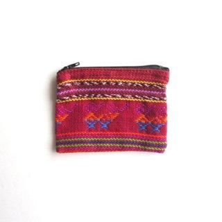 ウィピル生地を使った織り布ポーチS/グァテマラ雑貨