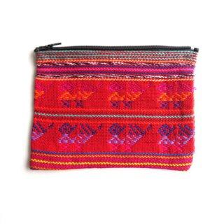 カラフル織物ポーチL/グァテマラ雑貨