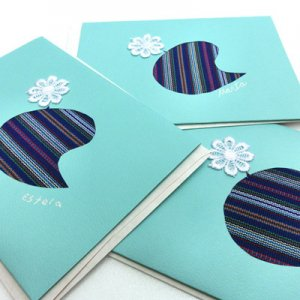 グリーティングカード(ひよこ)、メッセージカード/グァテマラ・青い空の会
