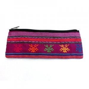 グァテマラの布製レインボー長ポーチ/グアテマラ雑貨