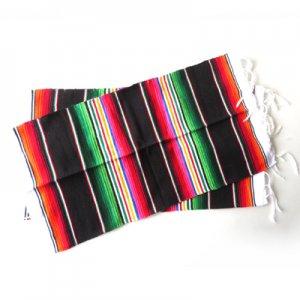 サラペランチョンマットBK【2枚セット】/メキシカン雑貨