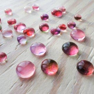 ガラスカボション ピンク 4個