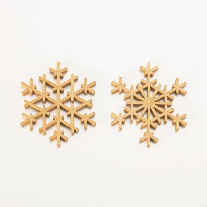 雪の結晶コースター