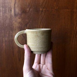 エスプレッソを味わうカップ 黄瀬戸(きぜと)/加藤 達伸(三峰園窯)
