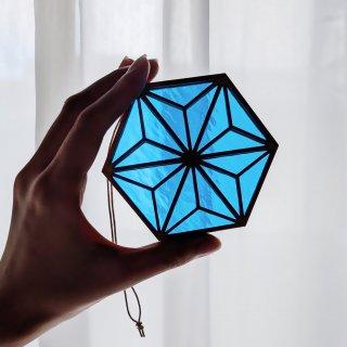 窓際に飾りたい 青の世界を楽しむ組子細工/土本 恭義(土本工芸)