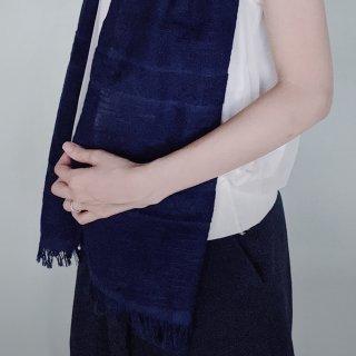ずっと触れていたい本藍染のやさしいコットンストール藍勝(あいかち)色/矢野 藍秀(本藍染矢野工場)