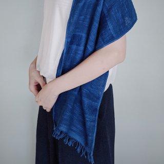 ずっと触れていたい本藍染のやさしいコットンストール藍縹(あいはなだ)色/矢野 藍秀(本藍染矢野工場)