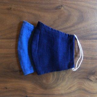 【通年用】藍の香りで心穏やかに 本藍染のマスクセット(2枚)/矢野 藍秀(本藍染矢野工場)