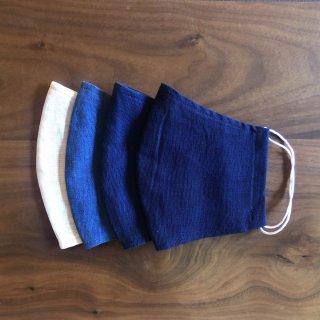 【通年用】藍の香りで心穏やかに 本藍染のマスクセット(4枚セット)/矢野 藍秀(本藍染矢野工場)