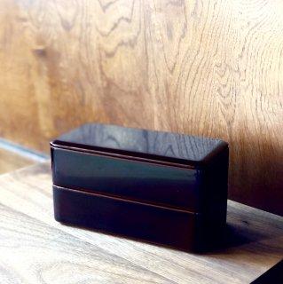 お昼ごはんがより贅沢に 漆塗りの二段お弁当箱/佐藤 史幸(秋田・川連塗 寿次郎)