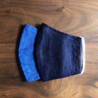 【夏用】藍の香りで心穏やかに 本藍染のマスク(2枚セット)/矢野 藍秀(本藍染矢野工場)