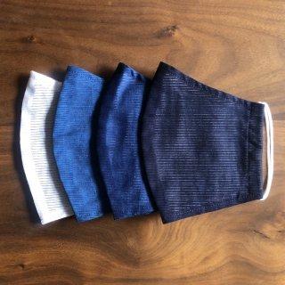 【夏用】藍の香りで心穏やかに 本藍染のマスク(4枚セット)/矢野 藍秀(本藍染矢野工場)