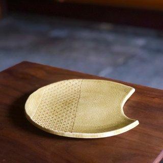 向きを変えて楽しむお月様の器 黄瀬戸(きぜと)/加藤 達伸(三峰園窯)