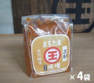 <玉那覇味噌醤油>まるたま味噌【王朝】お徳用1kg×4袋 <5%引き>