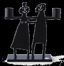 COUPLE CANDLE HOLDER BLACK  (2 SIZE)
