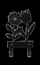 SPRING FLOWER HANGER BLACK