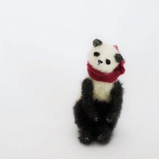 ちいくた(パンダ、白x濃グレー)