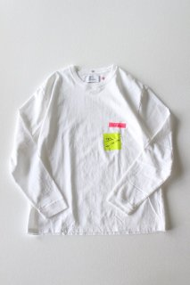 Laugh & Be... / POST IT LS Tee - WHITE