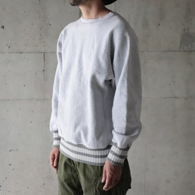 HEXICO / Deformer Sweat Border Rib - H.GRY