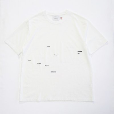 Laugh & Be...  /25th & 20th Anniversary   【KNOCKOUT EXCLUSIVE】   AROUND THE WORLD TEE - WHITE