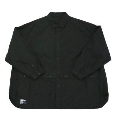 FreshService / Cargo Pocket Regular Collar Utility Shirt - BLACK