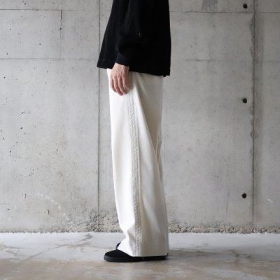 TRO USERS / WIDE TROUSERS - ECRU