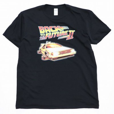 MOVIE TEE /  BACK TO THE FUTURE 2 S/S TEE (FLAT WHEEL) - BLACK