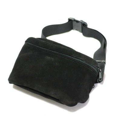ZAKKPAC / LEATHER HIP BAG - BLACK SUEDE
